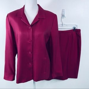 Pendleton Pink Blazer and Skirt Suit Size 14